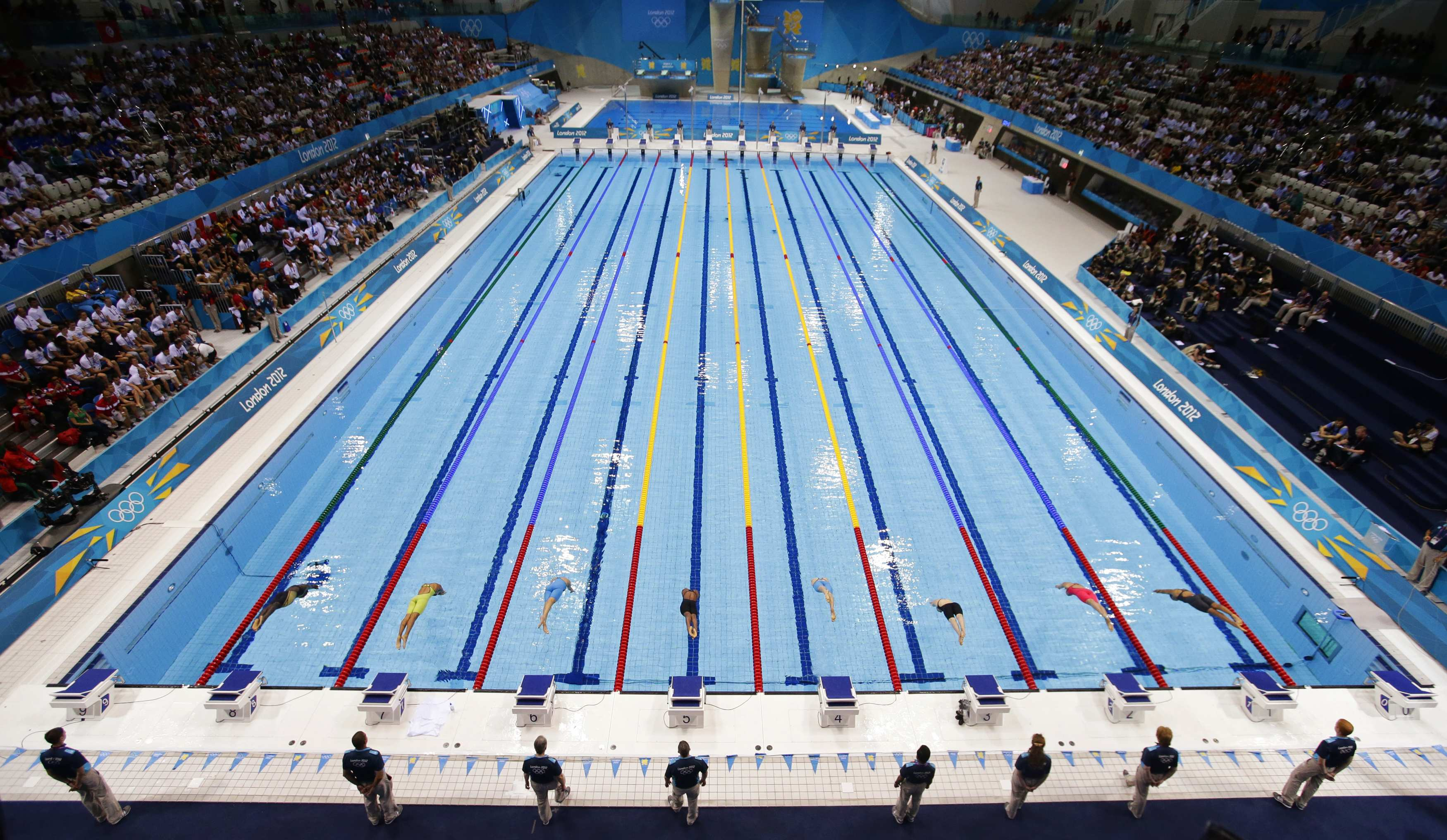 Fast swimmers make fast pools but science lends a hand emtv online for Olympic swimming pool pictures