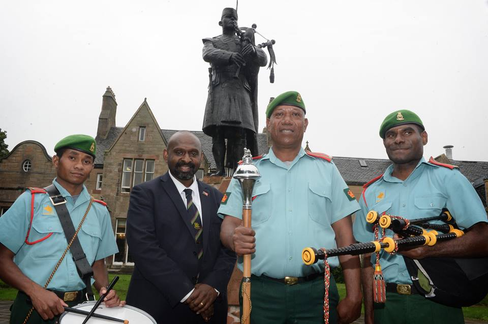 Piper and Drummers of Papua New Guinea Defence Force complete course in Scotland