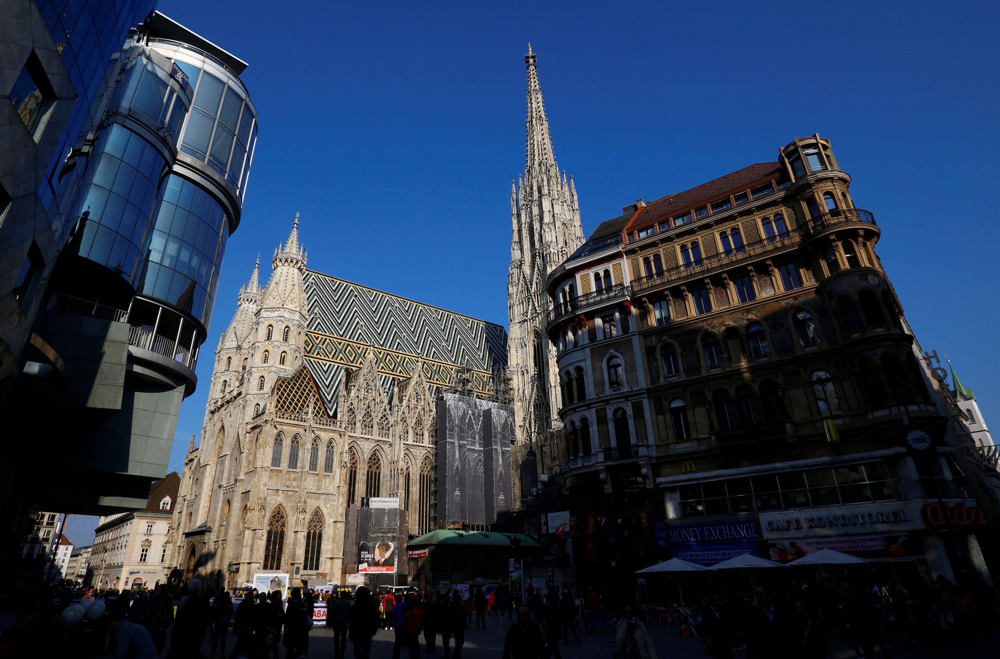 St. Stephen's cathedral (Stephansdom) is pictured in Vienna, Austria, March 13, 2017.   REUTERS/Leonhard Foeger