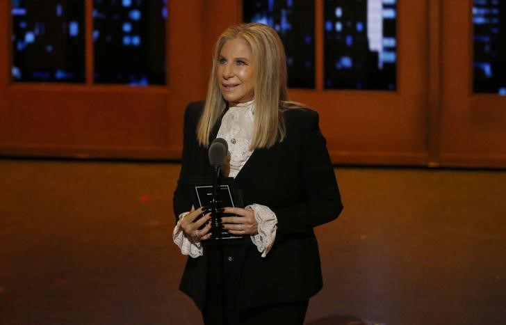 Singer Barbra Streisand speaks on stage during the American Theatre Wing's 70th annual Tony Awards in New York, U.S., June 12, 2016. REUTERS/Lucas Jackson/Files
