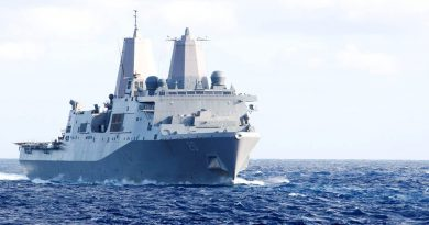 USS Green Bay arrives in Port Moresby