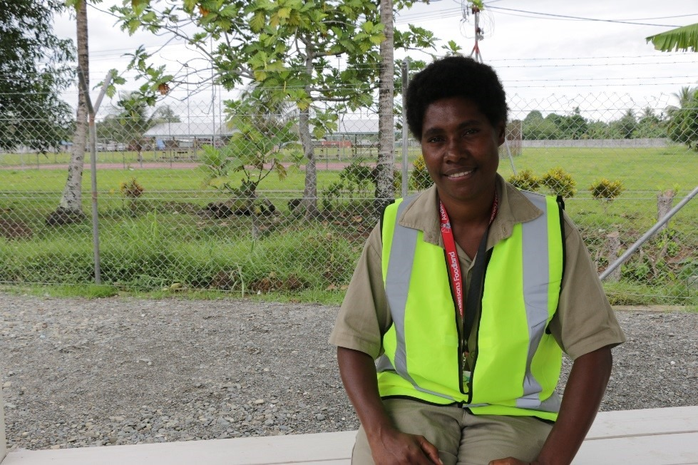 Emma Francis, Administration Assistant, at DWU site