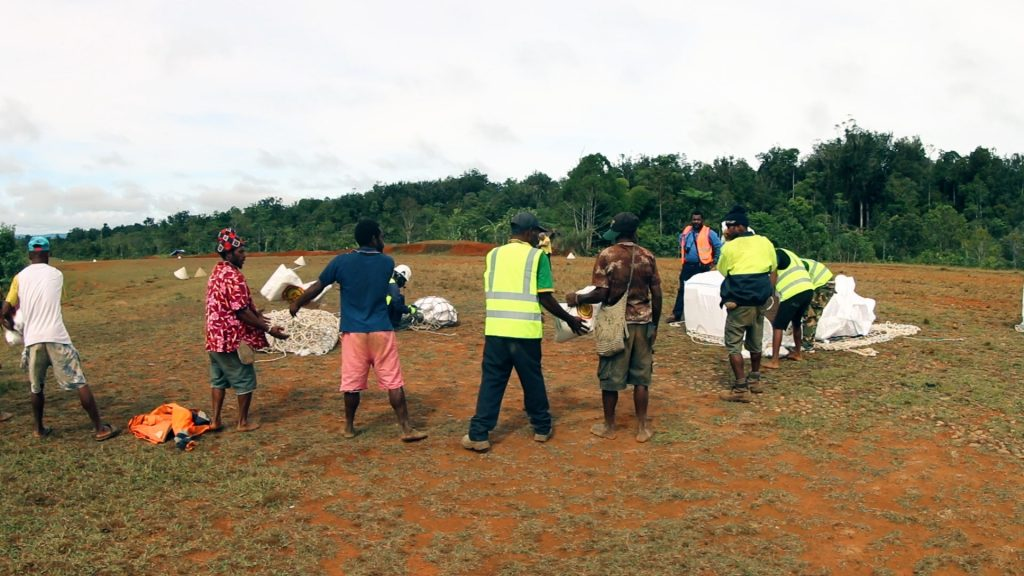 Photo credit: EMTEK 'Last Mile' Documentary: Food supplies arriving into the earthquake struck areas.