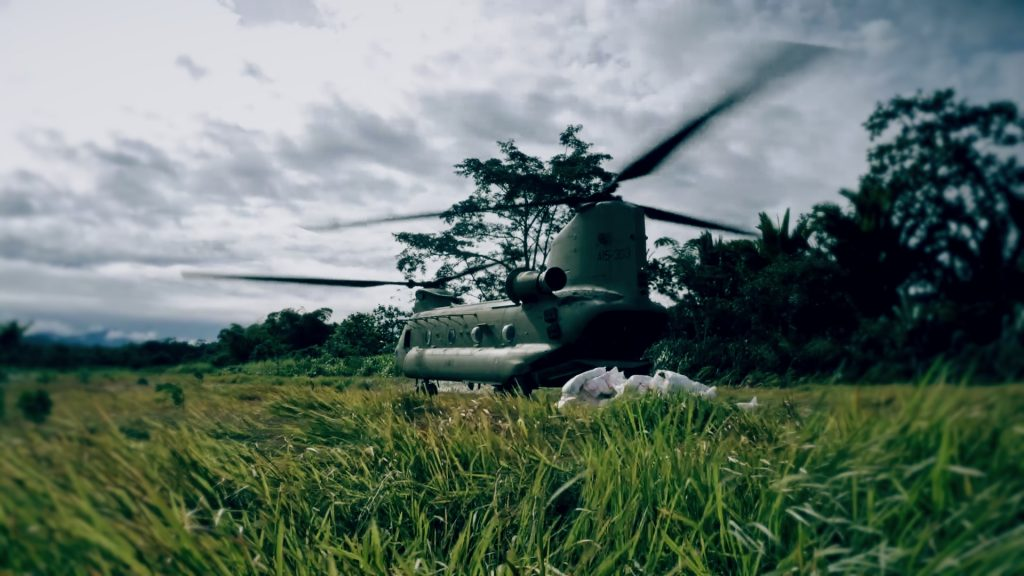 Photo credit: EMTEK 'Last Mile' Documentary: Food and relief supplies arriving in the affected areas.