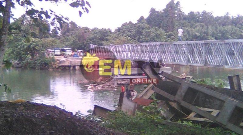 Temporary Banab Bridge nears completion
