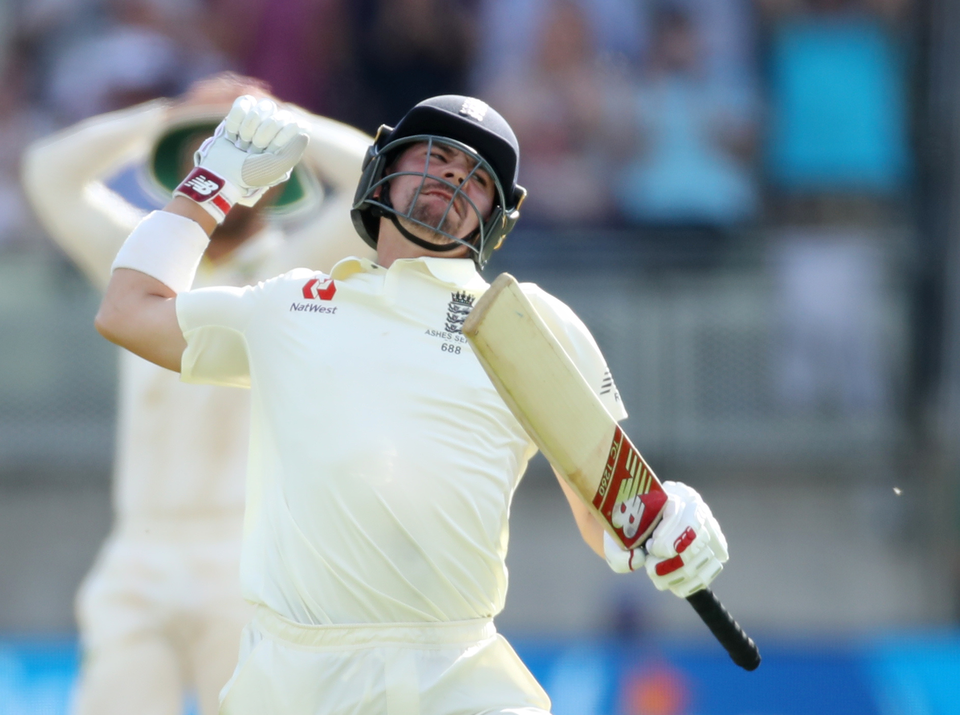 Cricket - Ashes 2019 - First Test - England v Australia - Edgbaston, Birmingham, Britain - August 2, 2019   England's Rory Burns celebrates his century   Action Images via Reuters/Carl Recine