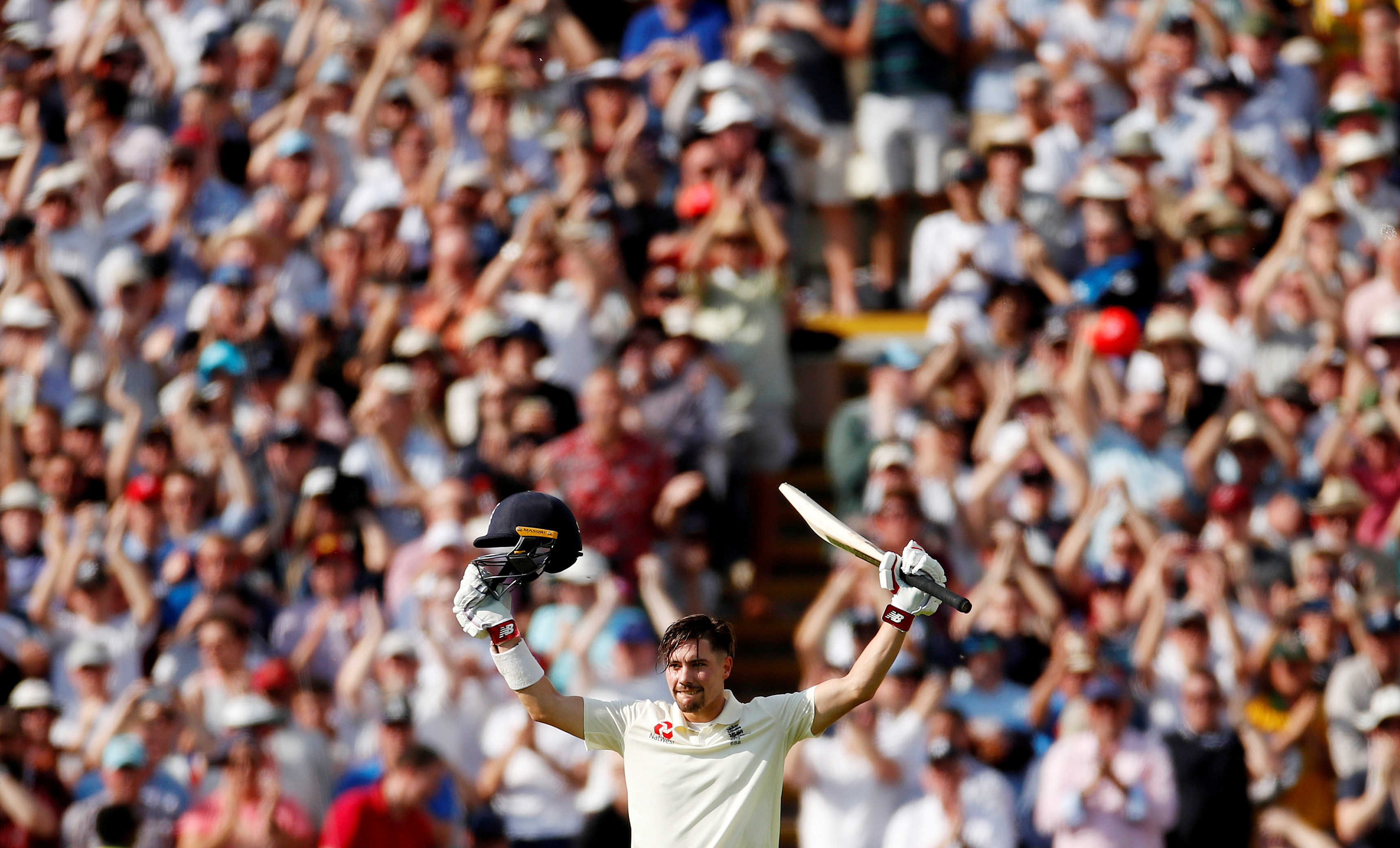 Cricket - Ashes 2019 - First Test - England v Australia - Edgbaston, Birmingham, Britain - August 2, 2019   England's Rory Burns celebrates his century   Action Images via Reuters/Andrew Boyers