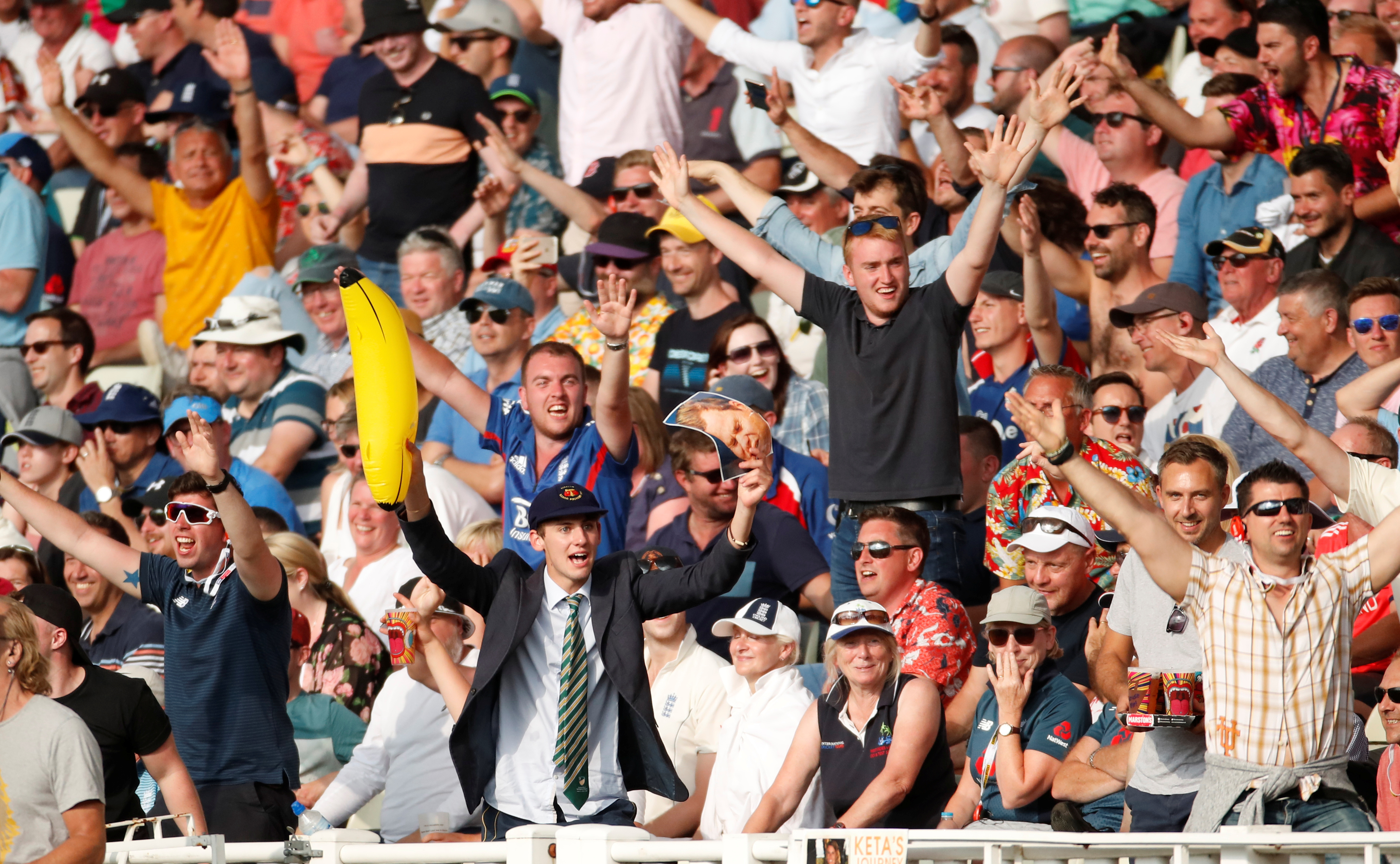 Cricket - Ashes 2019 - First Test - England v Australia - Edgbaston, Birmingham, Britain - August 2, 2019   England fans     Action Images via Reuters/Andrew Boyers