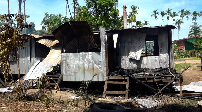 House burnt in Newtown Madang