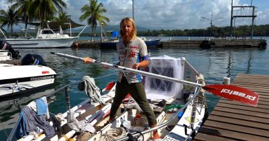 Latvian Lone Canoeist in Madang Continuing his Journey Around the World