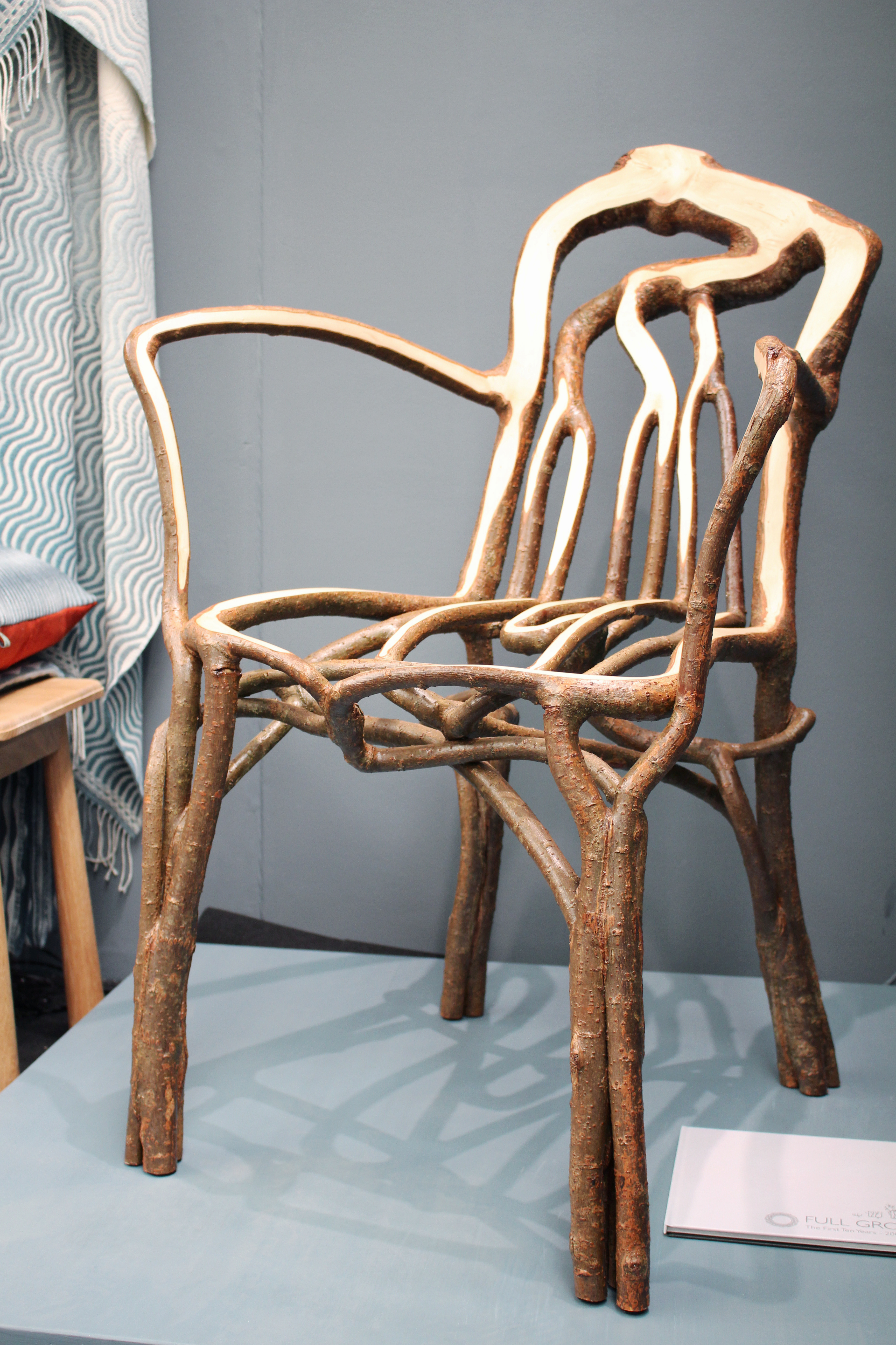 Finished Full Grown chair is pictured on display at the London Design Fair in London, Britain, September 19, 2019. Picture taken September 19, 2019. REUTERS/George Sargent