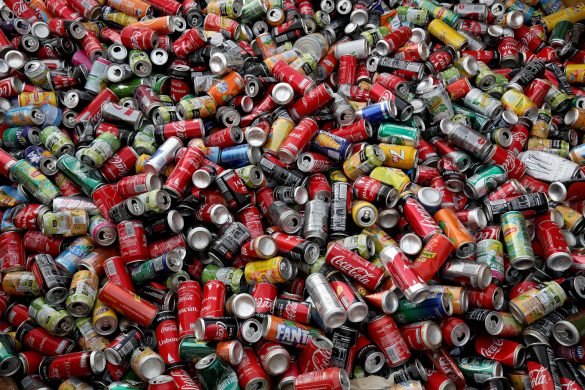 FILE PHOTO: Recycle cans are seen at Veolia Proprete France Recycling company in Gennevilliers, near Paris, France August 24, 2017. REUTERS/Benoit Tessier