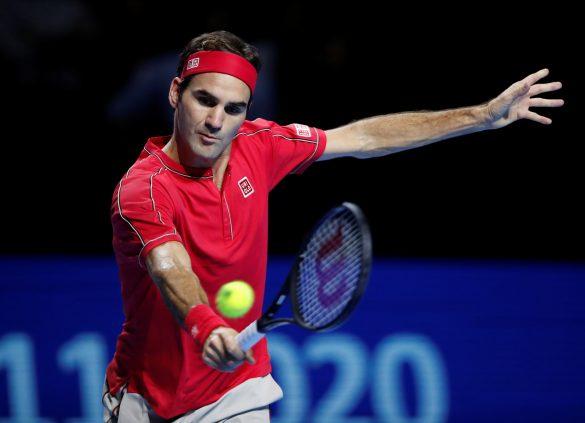 Tennis - ATP 500 - Swiss Indoors Basel - St. Jakobshalle, Basel, Switzerland - October 27, 2019   Switzerland's Roger Federer in action during the final against Australia's Alex de Minaur   REUTERS/Arnd Wiegmann