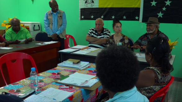 Dr. Alex Mojon meeting with the Madang Provincial Government Officials and other concerned parties.